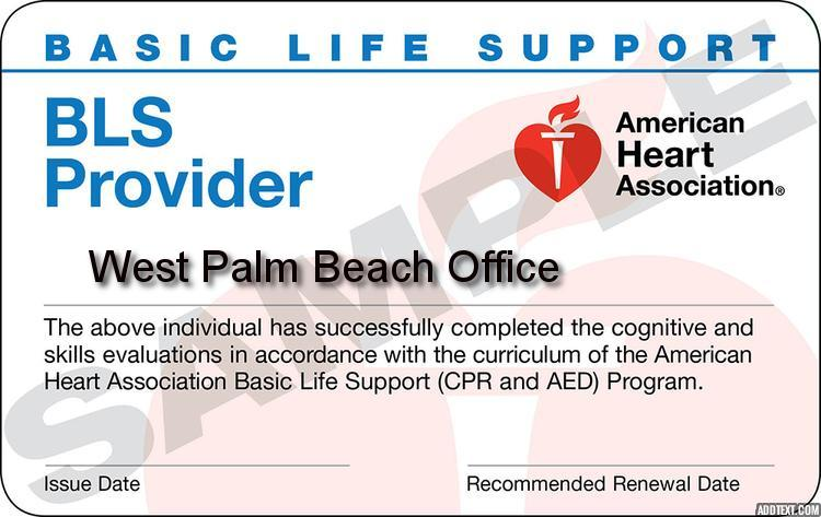 West Palm Beach - American Heart Association Healthcare Provider BLS Class